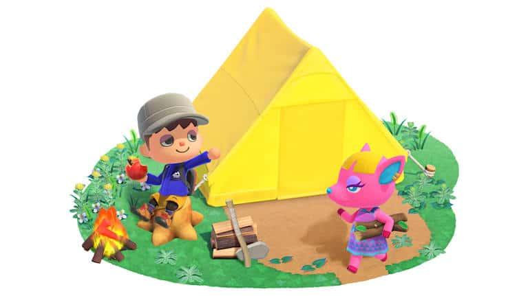 משחק Animal Crossing: New Horizons לנינטנדו סוויץ' - מחנה אוהלים