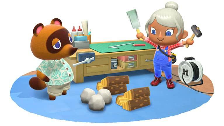משחק Animal Crossing: New Horizons לנינטנדו סוויץ' - בנייה עם טום נוק
