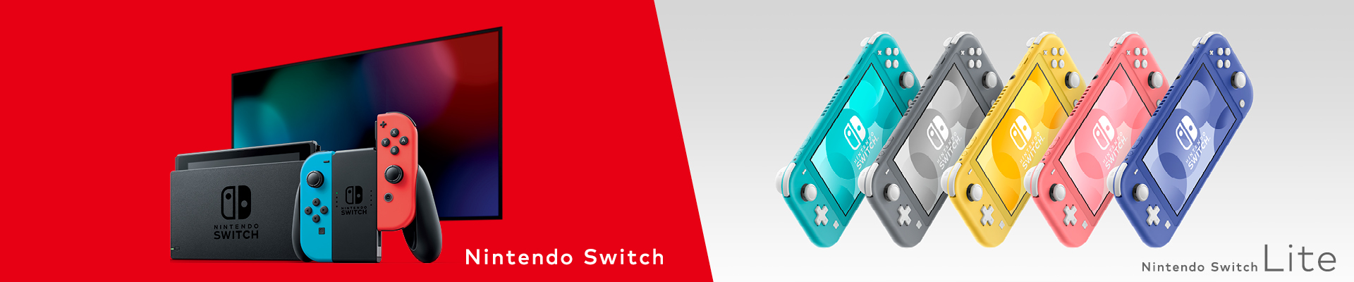 nintendo switch banner with lite