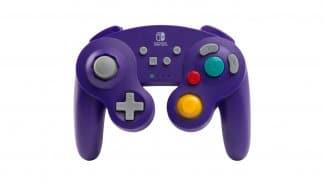 בקר אלחוטי בסגנון GameCube לנינטנדו סוויץ' בצבע סגול - זווית קדמית