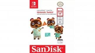 כרטיס זיכרון בנפח 512 גיגה בייט בעיצוב טום נוק ממשחקי אנימל קרוסינג - אריזה