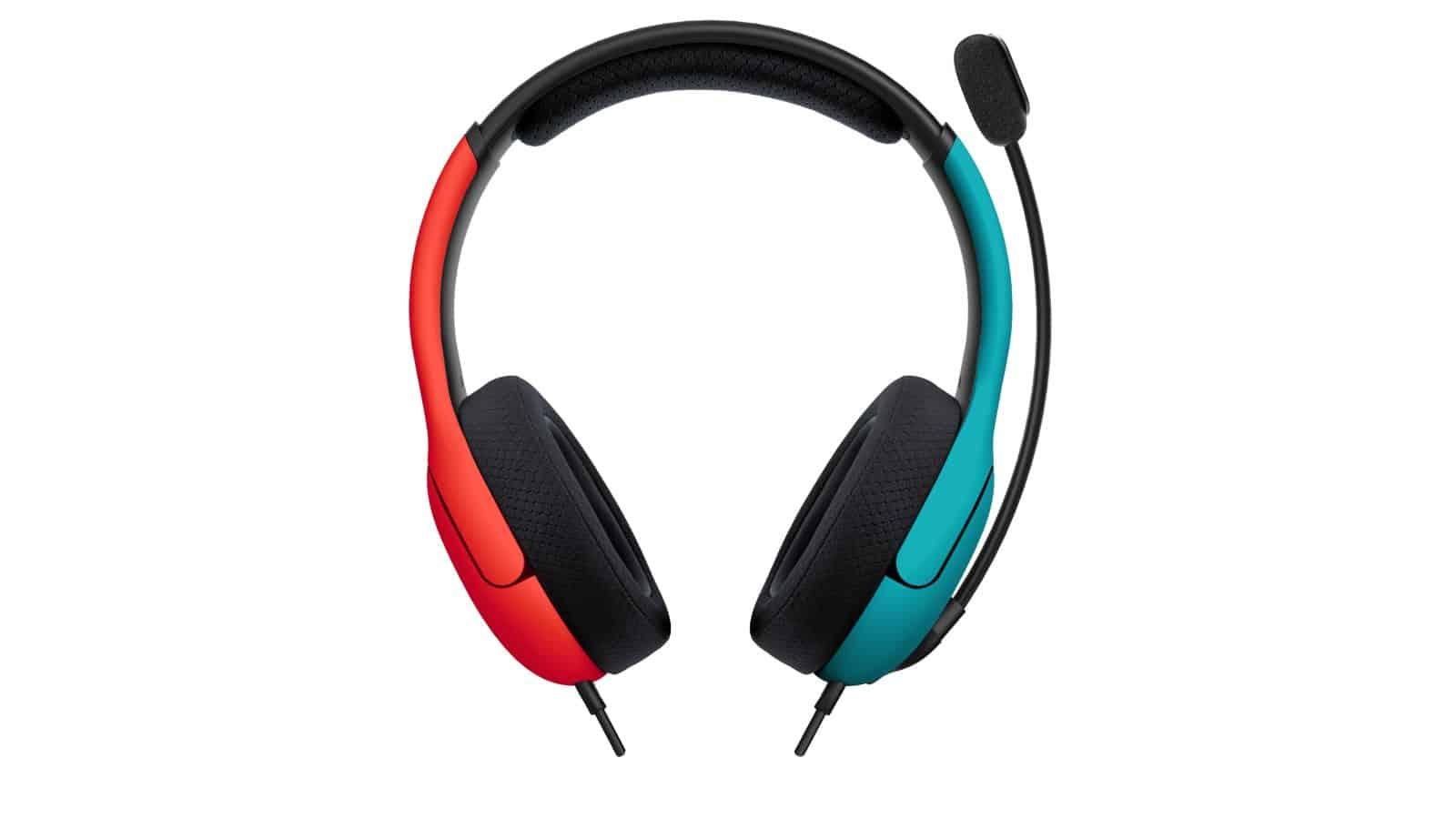 אוזניות בצבע אדום כחול - זווית קדמית