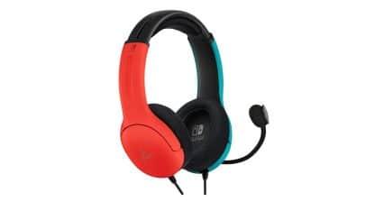 אוזניות חוטיות בצבע אדום כחול - אלכסון