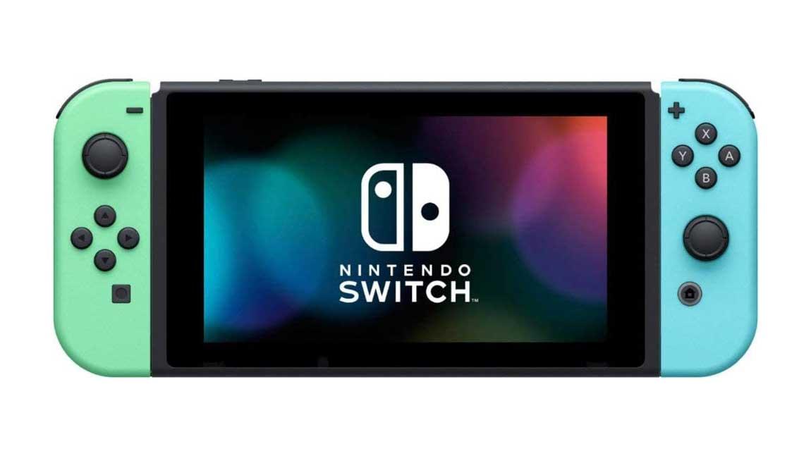 קונסולת Nintendo Switch במהדורת אנימל קרוסינג - מצב נייד