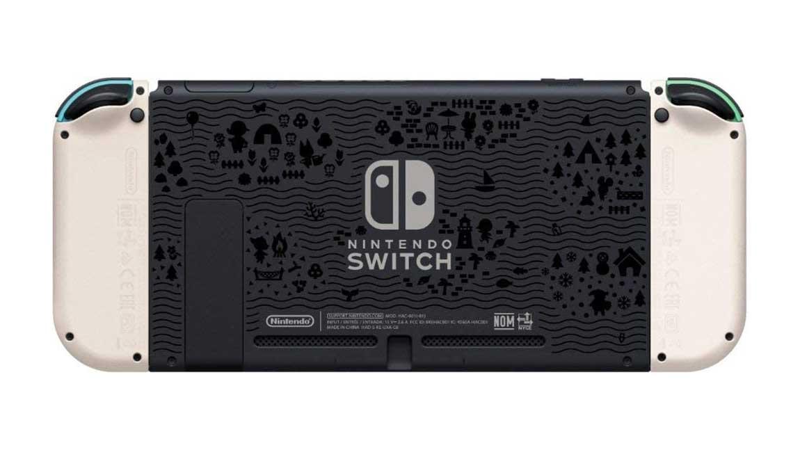 קונסולת Nintendo Switch במהדורת אנימל קרוסינג - גב המכשיר 2