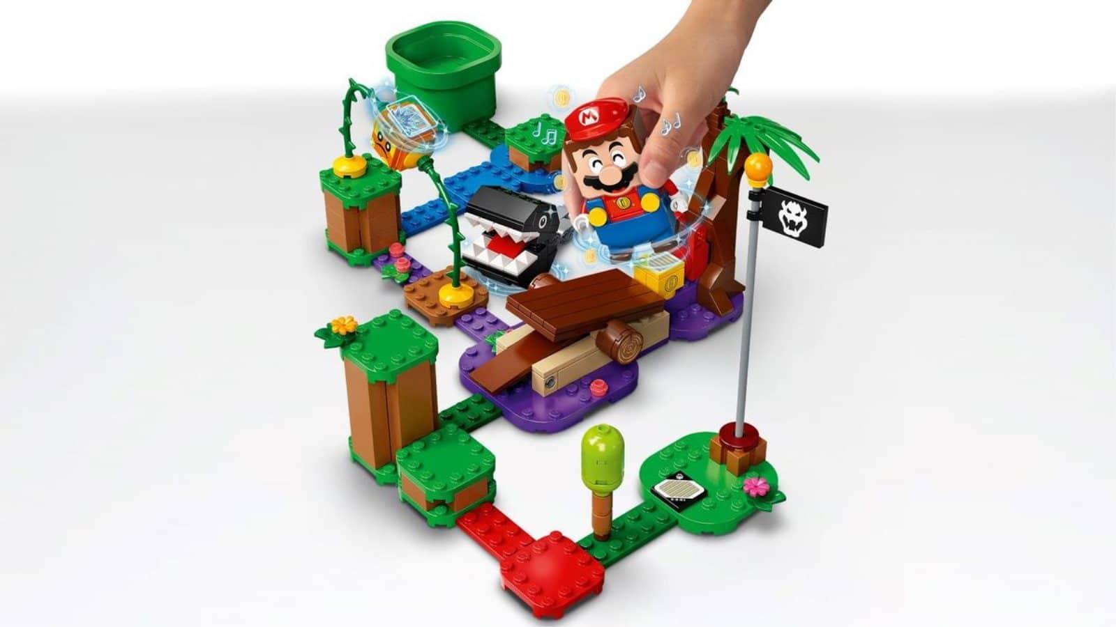 Lego 71381 Chain Chomp Jungle Encounter - יד מחזיקה מריו