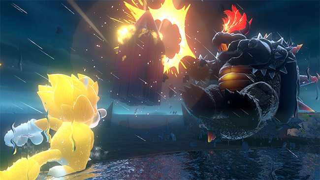 צילום מסך מהמשחק Bowser's Fury