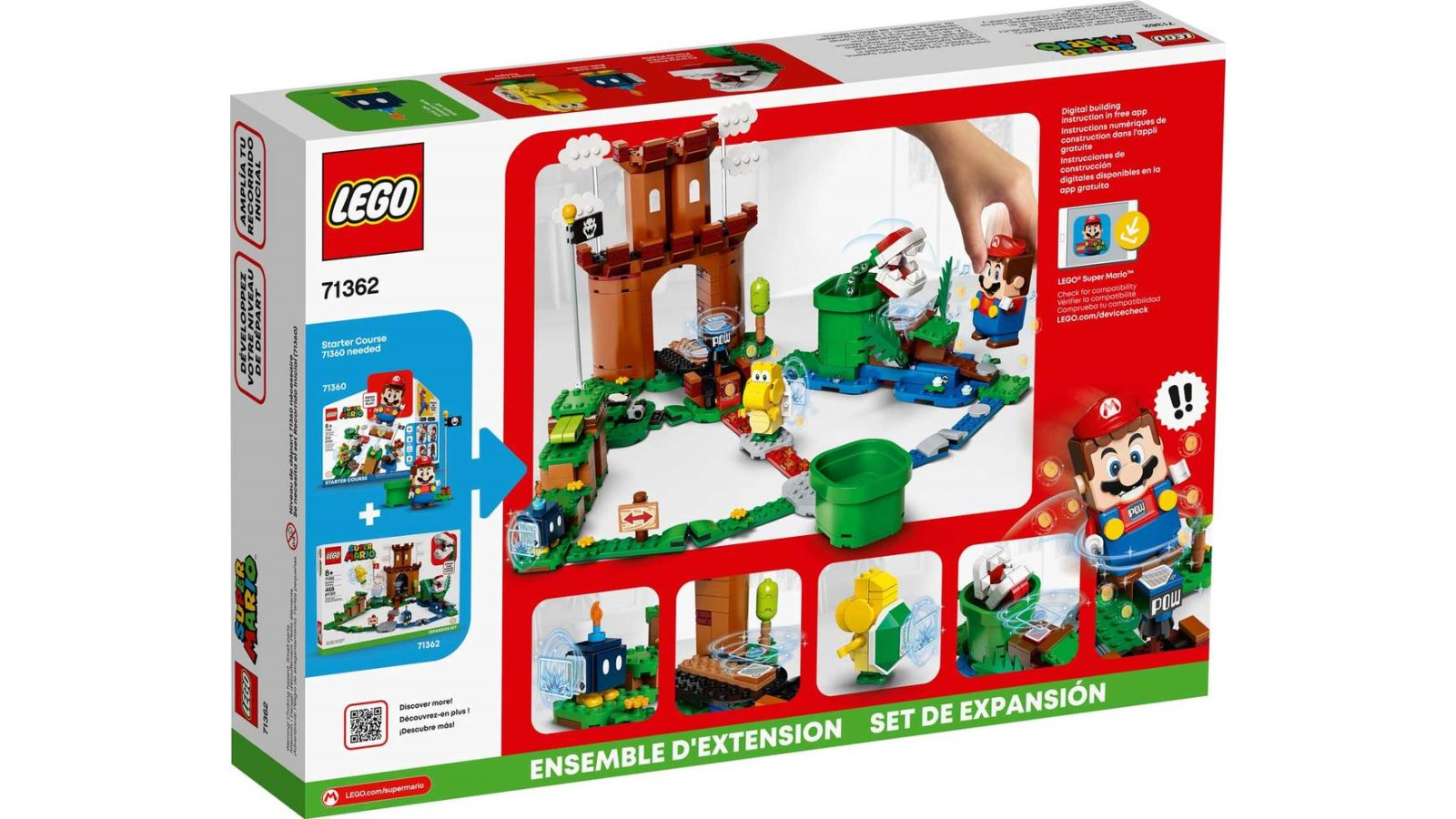 LEGO 71362 Guarded Fortress Expansion Set - אריזה אחורית