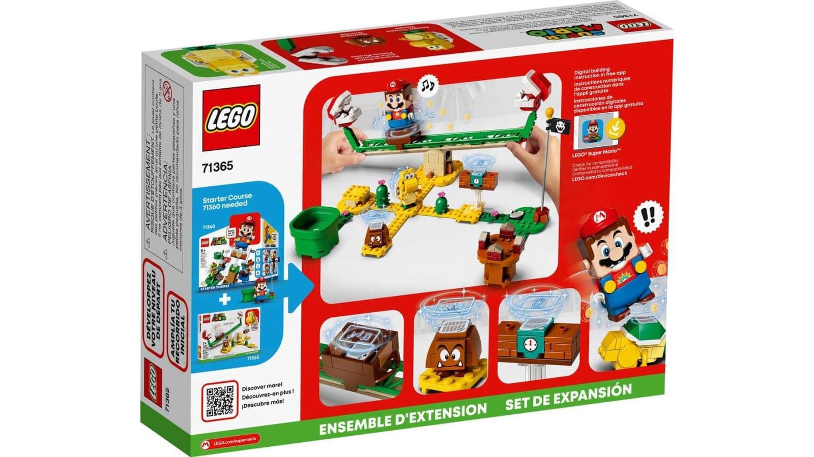 LEGO 71365 Piranha Plant Power Slide Expansion Set - אריזה אחורית