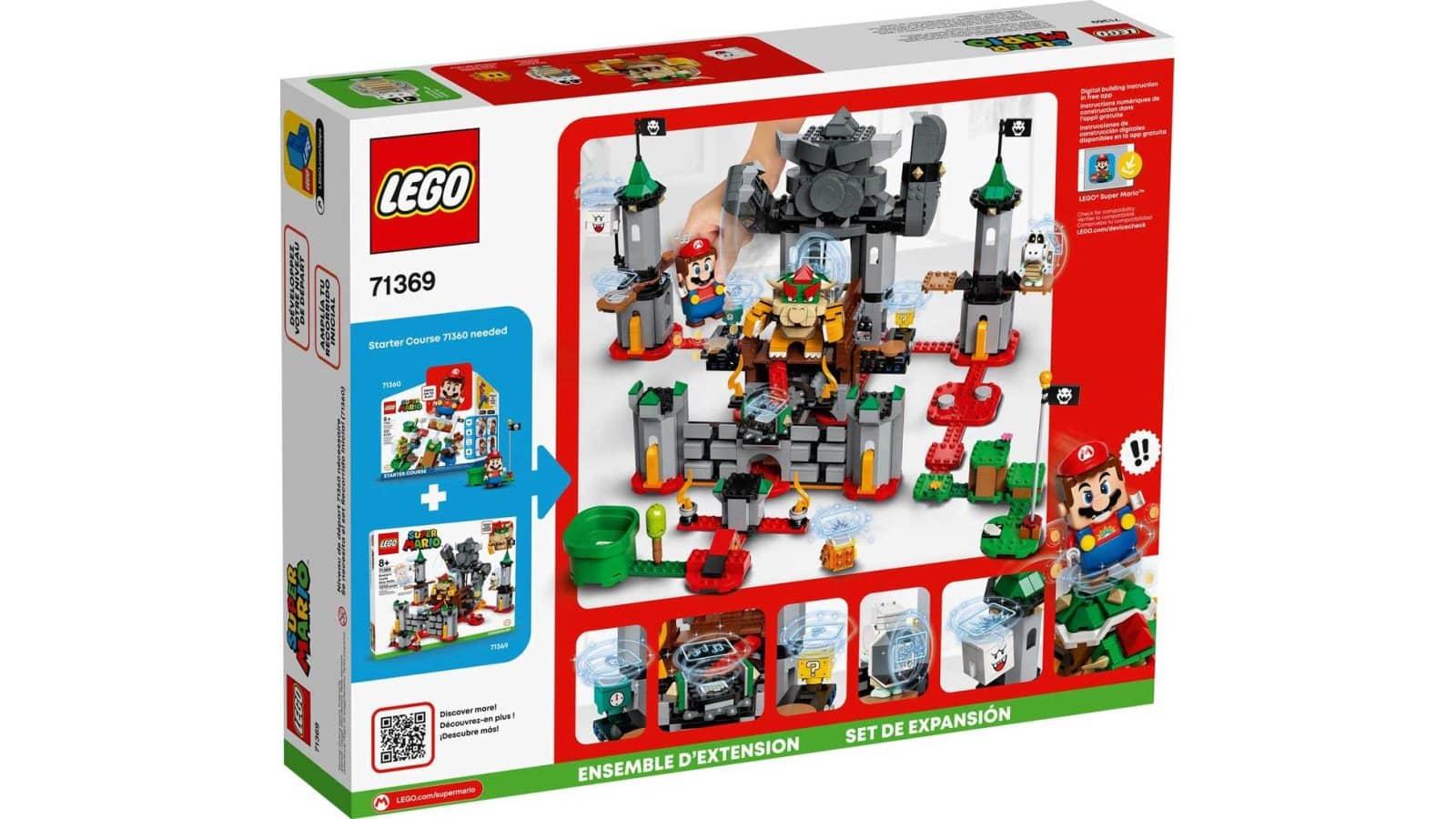 LEGO 71369 Bowser's Castle Boss Battle Expansion Set - אריזה אחורית
