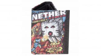 ארנק עם הדפס של Minecraft Nether