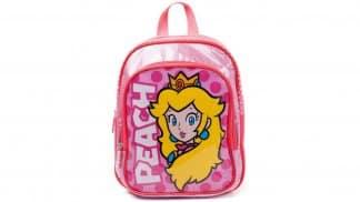 תיק לילדים בצבע וורוד עם איור של הנסיכה פיץ'