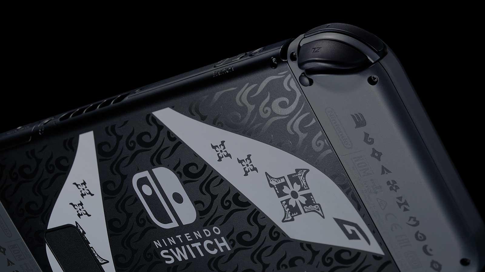 קונסולת נינטנדו סוויץ' במהדורת Monster Hunter Rise - גב המכשיר