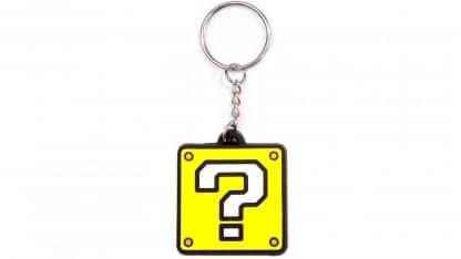 מחזיק מפתחות של בלוק עם סימן שאלה בצבע צהוב מסדרת המשחקים סופר מריו