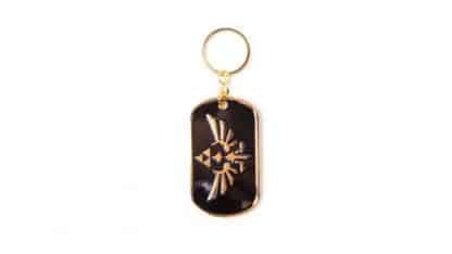 מחזיק פתחות בצבעים שחור זהב של Skyward Sword מהעולם של משחקי זלדה