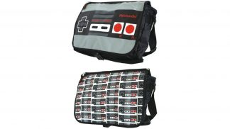 תיק צד בעיצוב בקר קונוסלת NES - תצוגה קדמית ואחורית