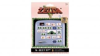 מגנטים למקרר בעיצוב אלמנטים ממשחק The Legend of Zelda הראשון.