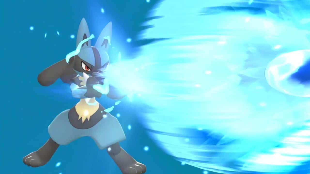 משחקים Pokémon Brilliant Diamond & Pokémon Shining Pearl לנינטנדו סוויץ' - לוקאריו בקרב