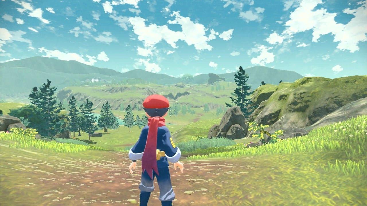 משחק Pokémon Legends: Arceus לנינטנדו סוויץ' - שחקן בשדה פתוח