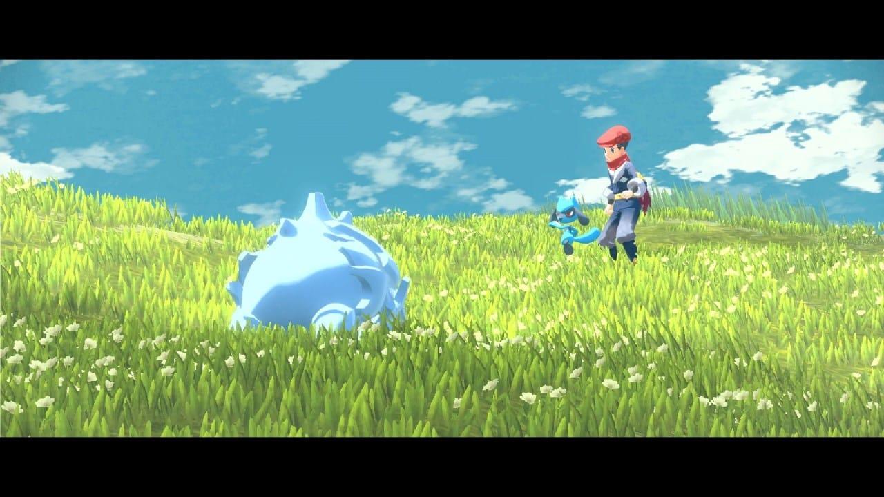 משחק Pokémon Legends: Arceus לנינטנדו סוויץ' - רייהורן נגד ריולו