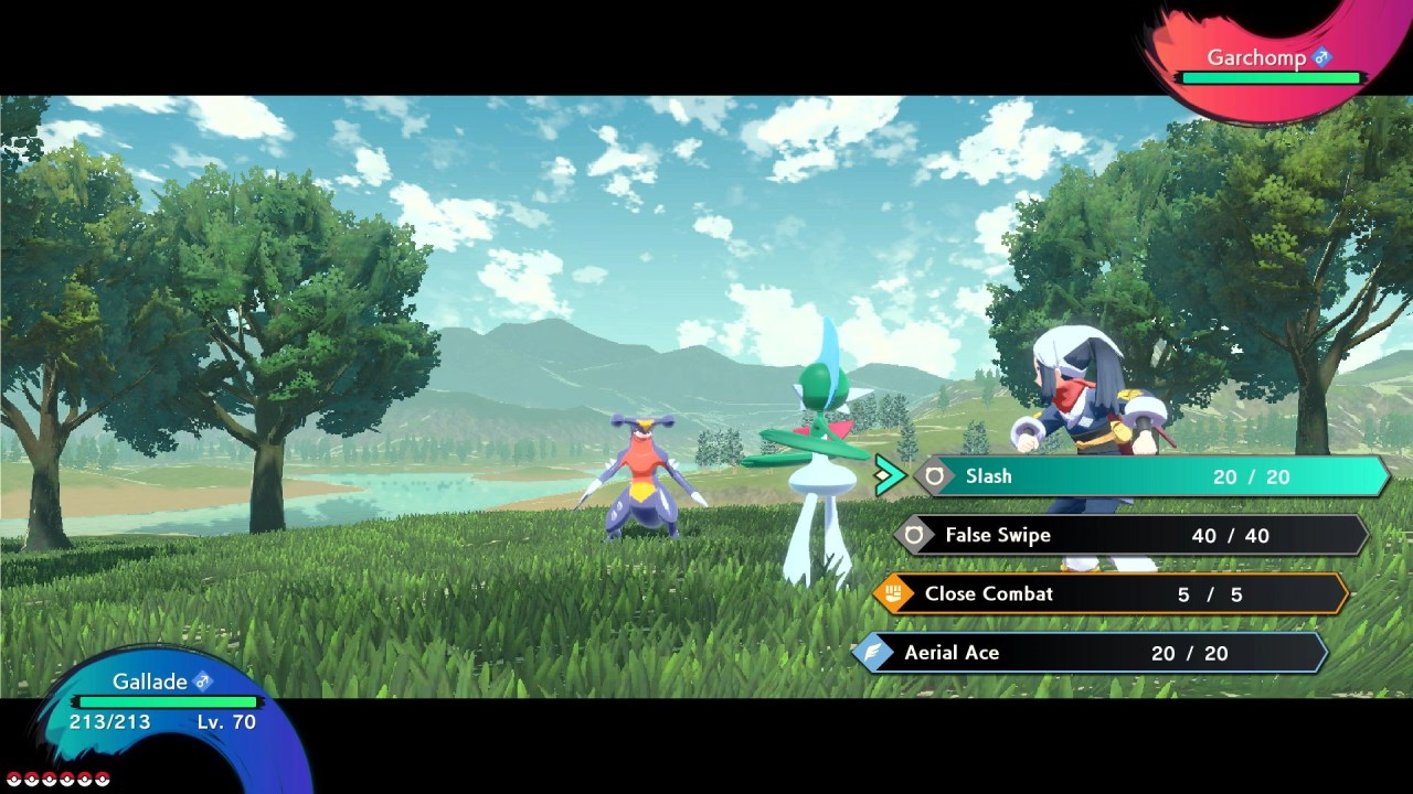 משחק Pokémon Legends: Arceus לנינטנדו סוויץ' - גאלייד נגד גארצ'ומפ