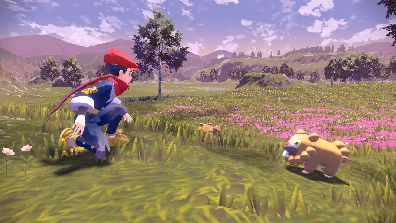משחק Pokémon Legends: Arceus לנינטנדו סוויץ' - שחקן רוכן לעבר בידוף
