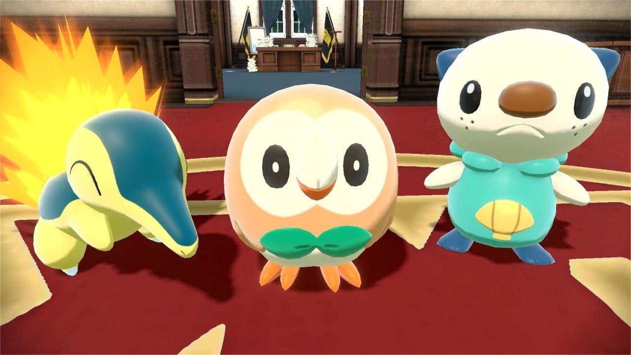 משחק Pokémon Legends: Arceus לנינטנדו סוויץ' - פוקימונים התחלתיים: Rowlet, Cyndaquil, Oshawott