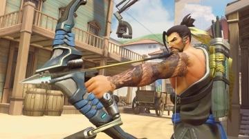 צילום מסך 3 למשחק: Overwatch Legendary Edition לקונסולת נינטנדו סוויץ' הדמות האנזו שימדה עומד לירות בחצים