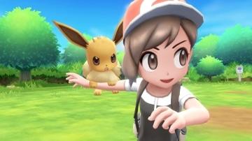 צילום מסך 1 מתוך המשחק: Pokemon Let's Go : Eevee הדמות והפוקימון איב ביחד