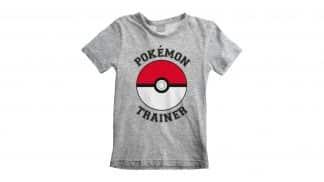 חולצה (ילדים) - מאמן פוקימונים - אפור