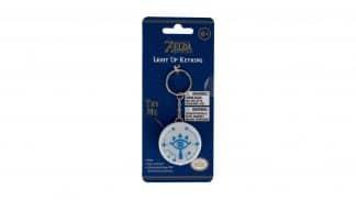 מחזיק מפתחות מאיר בעיצוב הסמל של שבט השיקה מהמשחק The Legend of Zelda: Breath of the Wild.