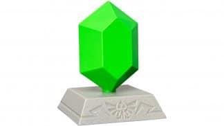 מנורה בעיצוב רופי - הכסף במשחקי זלדה, בצבע ירוק.