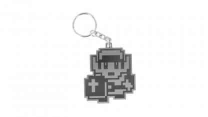 מחזיק מפתחות מונוכרומטי בעיצוב דמותו של לינק ממשחק The Legend of Zelda הראשון.