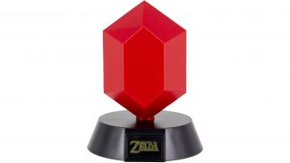 מנורה בעיצוב רופי - הכסף במשחקי זלדה, בצבע אדום.