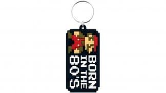 מחזיק מפתחות סופר מריו עם כיתוב born in the 80's