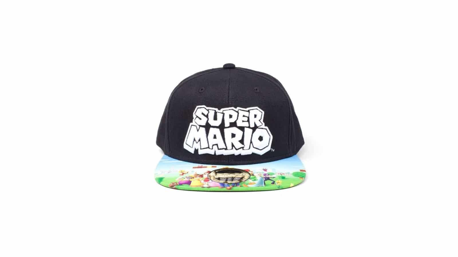 כובע - Super Mario הדפס - שחור