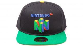 כובע בצבעים שחור וירוק עם סמל קונסולת נינטנדו 64