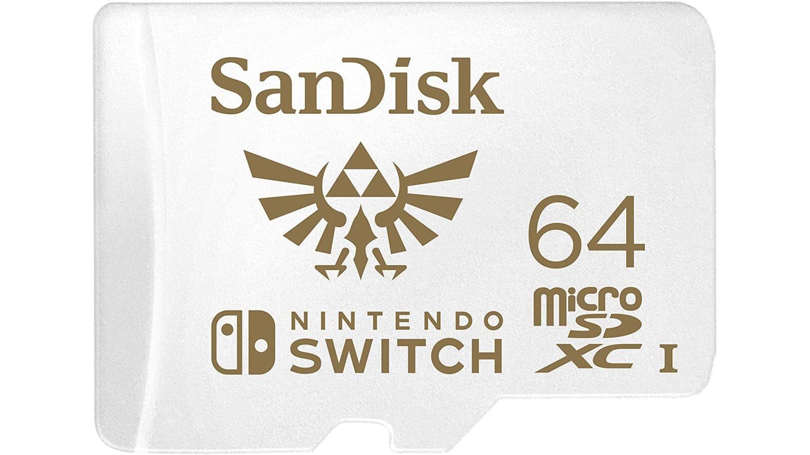 כרטיס זיכרון בנפח 64 גיגה בייט בעיצוב משחקי The Legend of Zelda - כרטיס