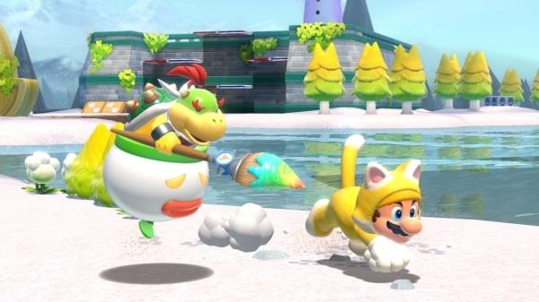 משחק Super Mario 3D World + Bowser's Fury לנינטנדו סוויץ' - מריו ובאוזר ג'וניור