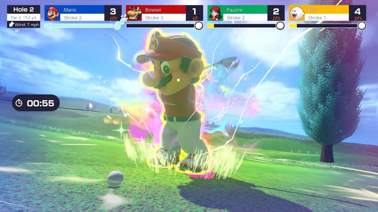 משחק Mario Golf: Super Rush לנינטנדו סוויץ' - מריו חובט