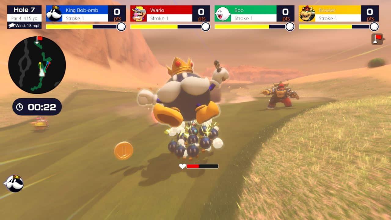 משחק Mario Golf: Super Rush לנינטנדו סוויץ' - King Bob-omb