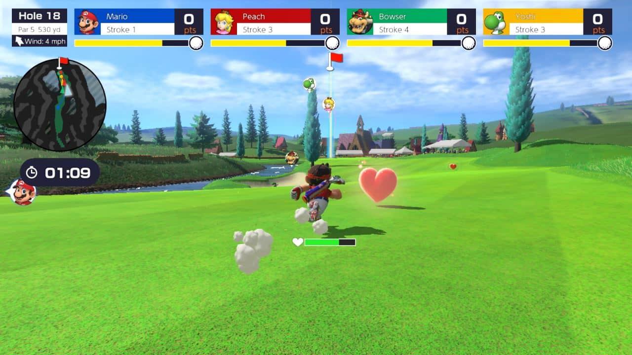 משחק Mario Golf: Super Rush לנינטנדו סוויץ' - מריו ולב