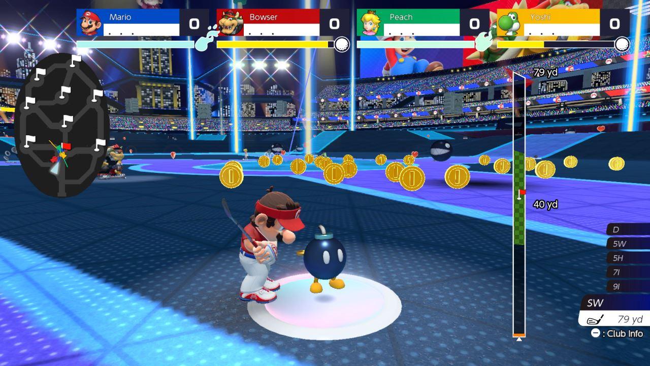 משחק Mario Golf: Super Rush לנינטנדו סוויץ' - מריו ו-Bob-omb