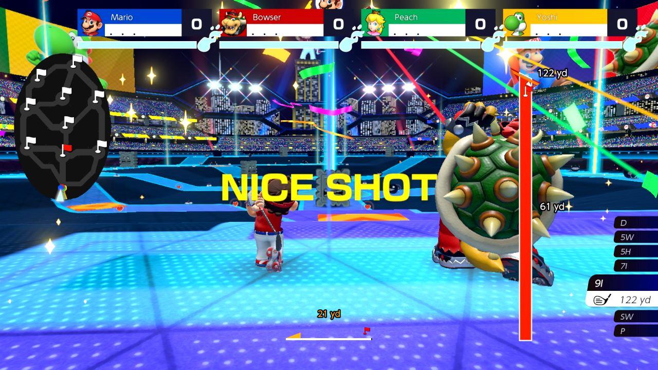 משחק Mario Golf: Super Rush לנינטנדו סוויץ' - חבטה