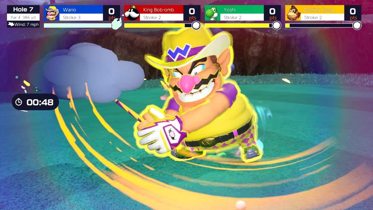 משחק Mario Golf: Super Rush לנינטנדו סוויץ' - וואריו