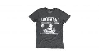 חולצה אפורה עם איור של מריו נוהג בקארט מירוץ - קדימה