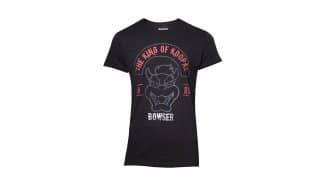 חולצה שחורה עם איור של הדמות באוזר ממשחקי סופר מריו