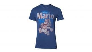 חולצה - מריו קופץ וינטאג' - כחול