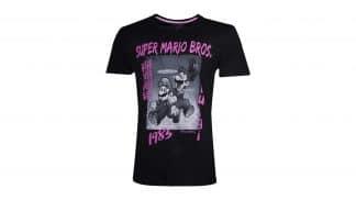 חולצה - מריו ולואיג'י - שחור + ורוד