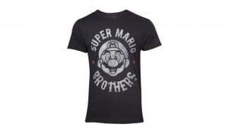 חולצה - סופר מריו לוגו אופנוענים - שחור